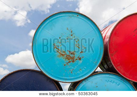 Metal Oil Barrels