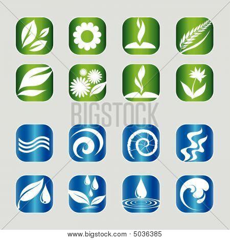 Set Of Nature Web Icons