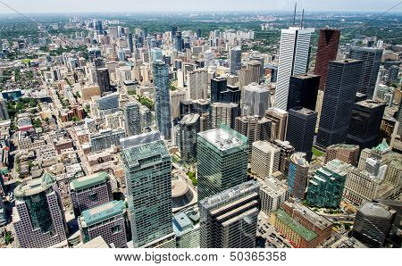 Toronto Downtown From CN Tower