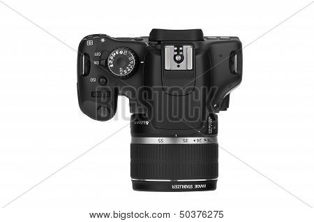 Digital Single Lens Reflex-top View (clipping Path)