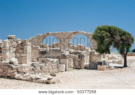 Ruins Of An Early Christian Basilica On Cyprus