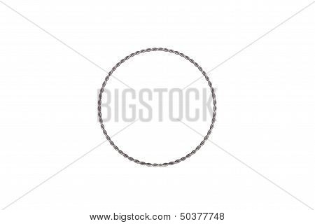 Wire Circle On White Background