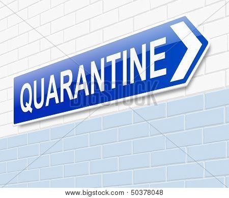 Quarantine Concept.