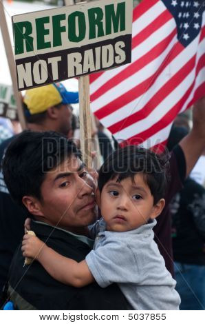 Immigrant Families On The March