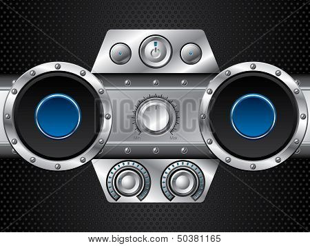 Hi Fi Set With Speakers
