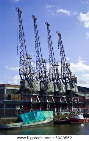 Four Harbour Cranes