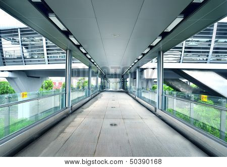 Footbridge corridor