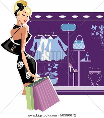 shopping fashion woman
