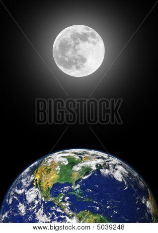 Terra e Lua beleza