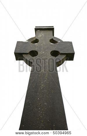Celtic cross at Kilfenora Cathedral, Ireland