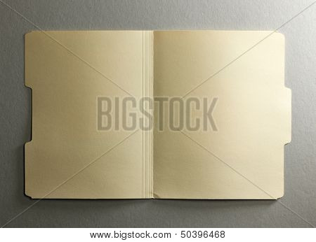 Manila file folder on background