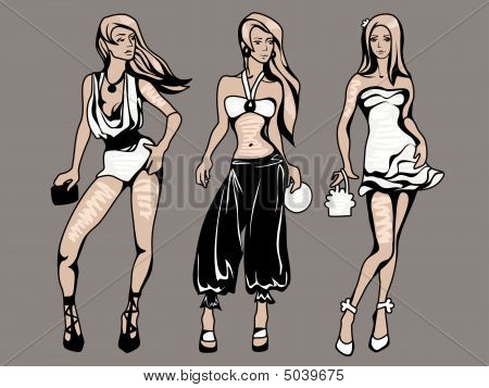 The Sketch Of A Summer Female Fashion