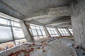 MOSCOW - NOV 29: Room under construction at new terminal of Domodedovo Airport, November 29, 2012, M
