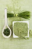 image of chlorella  - Green superfood - JPG