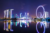 stock photo of singapore night  - Singapore cityscape - JPG