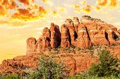 image of chimney rock  - famous chimney rock in Red Rock country Sedona USA - JPG