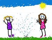 Sprinkler Summer Fun