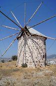 pic of gumbet  - Aegean style old mills in Bodrum Turkey - JPG