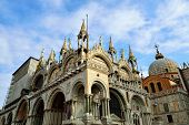 pic of piazza  - The artistic facade of the famous Basilica di San Marco  - JPG