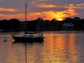 picture of florida-orange  - Sunrise over Matanzas Bay in the city of St - JPG
