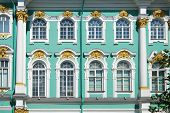 stock photo of pilaster  - Fine windows of Winter Palace in Saint - JPG