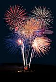 pic of firework display  - Fireworks Show Against the Night  - JPG