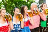 picture of lederhosen  - In Beer garden  - JPG