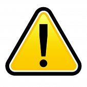 stock photo of hazard symbol  - Danger warning sign - JPG