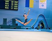stock photo of gymnastic  - KIEV  - JPG