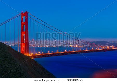 Golden Gate Bridge San Francisco sunset California USA