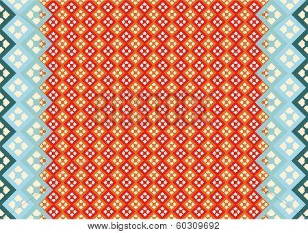Background Diamonds Geometry Seamless Decoration Elegance Red