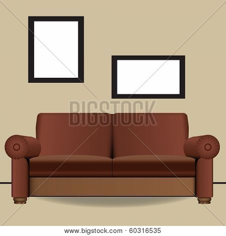Sofa Two Places In Interior