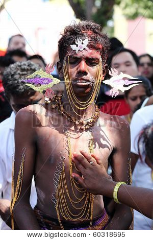 Indian Devotee Prepare For Celebrate At Thaipusam Festival On January