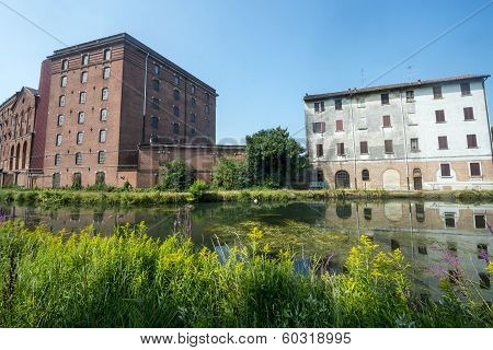 Certosa Di Pavia, Old House And Factory