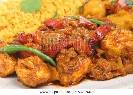 Indian Chicken Curry Meal