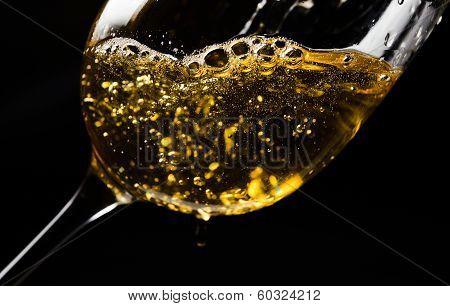White Wine  On Black