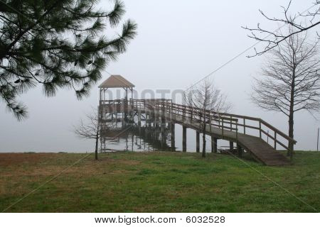 Misty Morning On The Pier