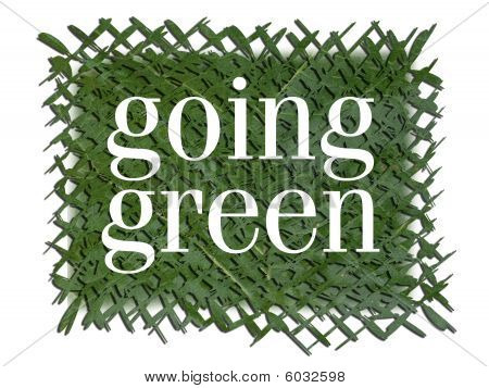 Going Green Text on Grass Patch