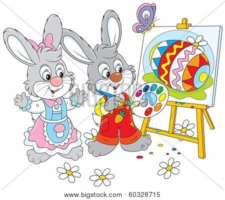 Easter Bunnies painters