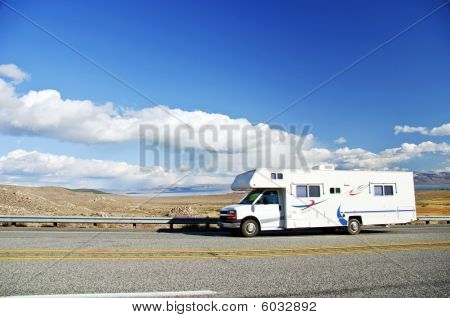 Motorhome Vacation At Yosemite National Park, Ca, Usa