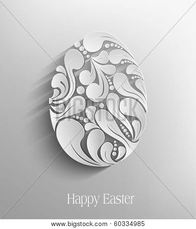 vector easter egg handmade