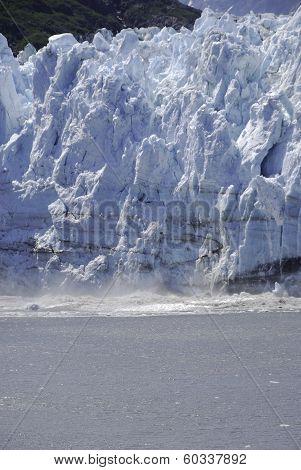 the glacier calving