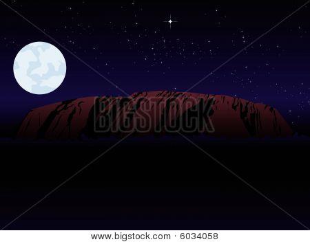 rock at night