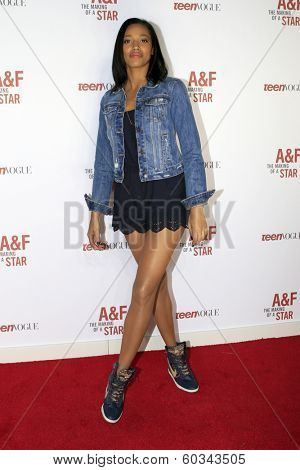 LOS ANGELES - FEB 22:  Kylie Bunbury at the Abercrombie & Fitch 'The Making of a Star' Spring Campaign Party  at Siren Studios on February 22, 2014 in Los Angeles, CA