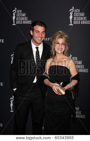 LOS ANGELES - FEB 22:  James Wolk, his mother at the 16th Annual Costume Designer Guild Awards at Beverly Hilton Hotel on February 22, 2014 in Beverly Hills, CA