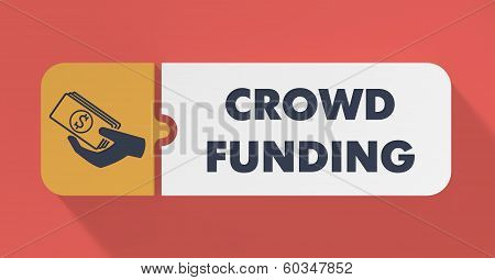 Crowd Funding Concept in Flat Design.