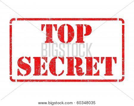 Top Secret -  Red Rubber Stamp.