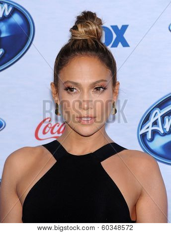 LOS ANGELES - FEB 20:  Jennifer Lopez arrives to the American Idol Top 13 Finalists  on February 20, 2014 in West Hollywood, CA