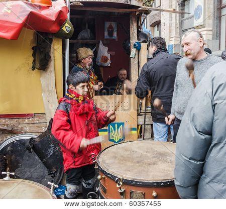 Boy Beats The Drum