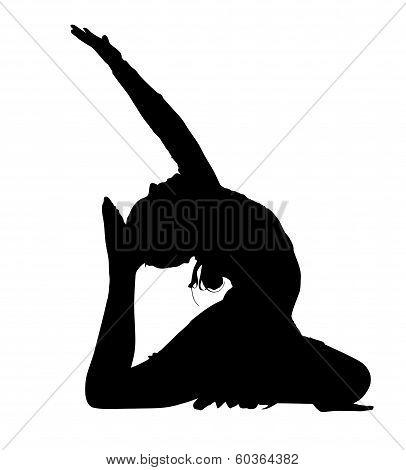 Acrobatic Gymnastics Dance Routine Silhouette